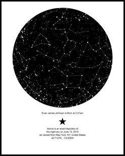 Myskymoment Create Your Sky Map