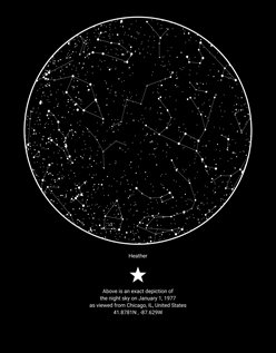 Night Sky Map Skymap | Create a custom sky map of Night Sky Map