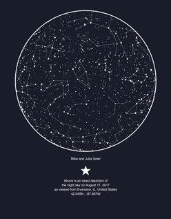 Create A Custom Sky Map Of The Night Sky Save With MySky - Star map generator